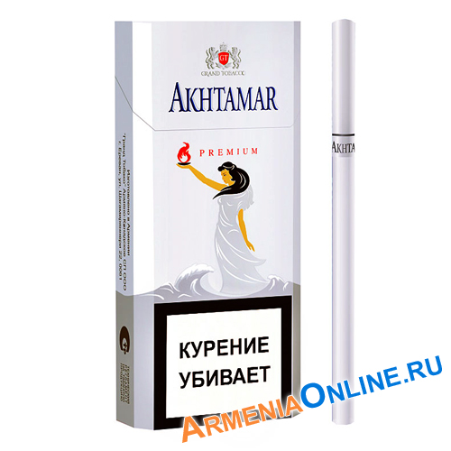 "Армянские Сигареты ""Akhtamar Premium"" Slims 100mm ""GRAND TABACCO"""