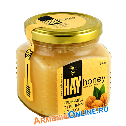 "Крем-мед с грецким орехом 350 гр ""HAY honey"""
