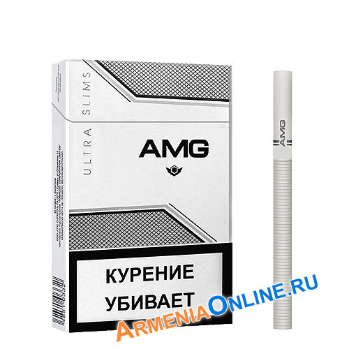 "Армянские сигареты ""AMG Ultra Slims"" White 84mm ""SPS Cigaronne"""