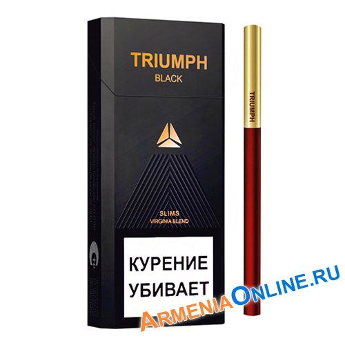 "Армянские Сигареты ""TRIUMPH  Black Slims"" 100mm ""GRAND TABACCO"""