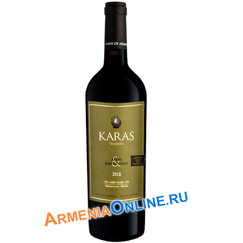"Армянское Вино ""KARAS ARENI KHNDOGHNI"" Красное сухое 0,75 л 12,0% 2018 ""Armavir Vineyards"""