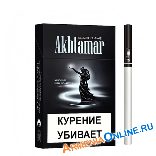 "Армянские Сигареты ""Akhtamar Nanoking"" Black Flame 84mm ""GRAND TABACCO"""